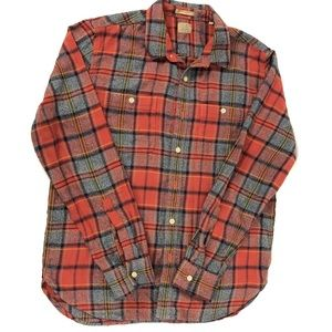 Lucky Brand Classic Fit Plaid Button Down Western